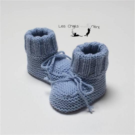 Chaussons intemporels bleus 1