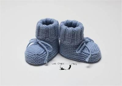 Chaussons intemporels bleus 2