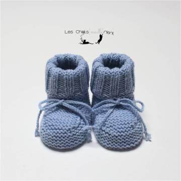 Chaussons intemporels bleus 3
